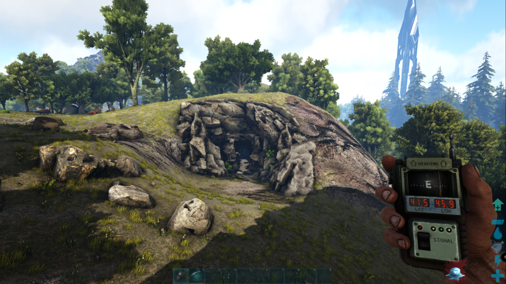 Ark Island Map Cave Locations - Central Cave Screenshot.