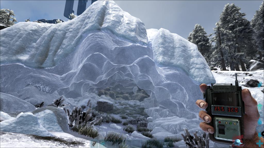 Ark Island Map Cave Locations - Snow Cave Screenshot.